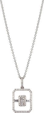 Diamond Open Shape Pendant Necklace (Nordstrom Exclusive)
