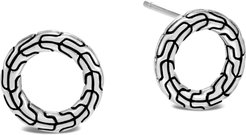 Classic Chain Sterling Silver Round Earrings