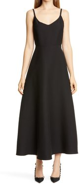 Wool & Silk Crepe Couture Midi Ballet Dress