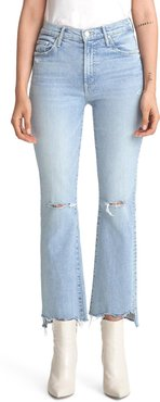 The Insider Ripped Chew Hem Crop Bootcut Jeans