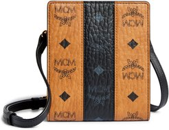 Visetos Leather Card & Coin Case With Strap -