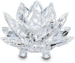 Water Lily Crystal Candleholder