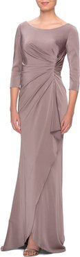 Ruched Trumpet Gown