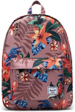 Classic Summer Floral Mid Volume Backpack - Pink