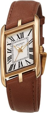 Bruno Magli Women's Sofia 1421 Asymmetrical Case Leather Strap Watch, 24mm at Nordstrom Rack