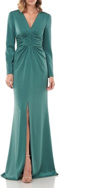 Kayla Long Sleeve Evening Gown