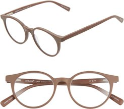Case Closed 49mm Round Reading Glasses - Brown Matte