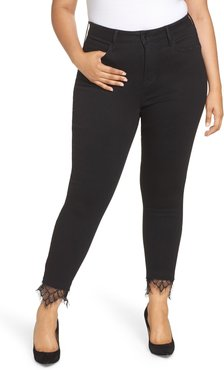 Plus Size Women's Seven7 Embroidered Side Skinny Jeans
