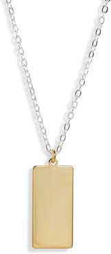 Skinny Dog Tag Necklace