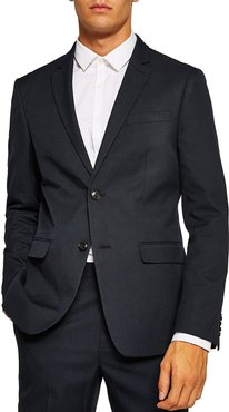 Skinny Fit Textured Suit Jacket