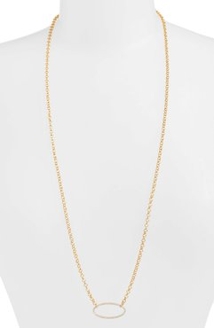 Signature Open Oval Pendant Necklace