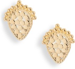 Scalloped Stud Earrings (Nordstrom Exclusive)