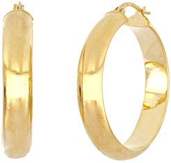 Bony Levy 14K Yellow Gold Polished 20mm Hoop Earrings at Nordstrom Rack