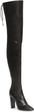 Moon Leather Over The Knee Boot