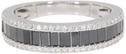 Effy 14K White Gold Black & White Diamond Band Ring - Size 7 - 1.06 ctw at Nordstrom Rack