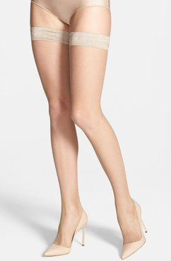 Bas Tricot Fishnet Stay-Up Stockings