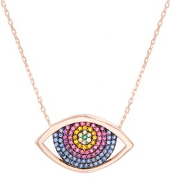 Eye Pave Crystal Necklace