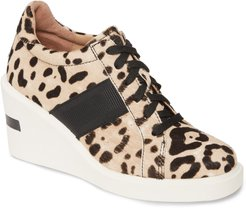 Kandis Genuine Calf Hair Wedge Sneaker