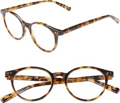 Case Closed 49mm Round Reading Glasses - Tokyo Tortoise
