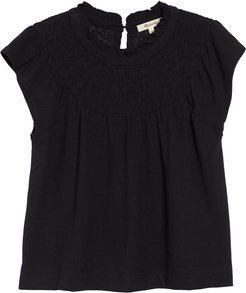 Lace Inset Superlight Jacquard Top