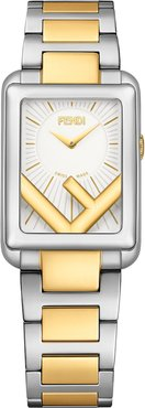 Run Away Rectangle Bracelet Watch, 22.5mm X 32mm