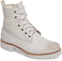 Ol22 Lace-Up Boot With Genuine Shearling Lining