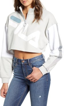 Kaia Quarter Zip Crop Sweatshirt
