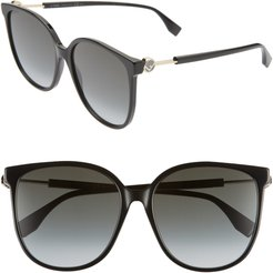 58Mm Cat Eye Sunglasses -