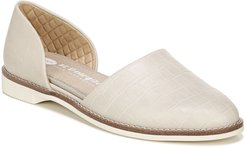 Choice Croc Embossed D'Orsay Flat