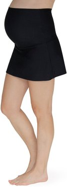 Foldover Maternity Swim Skirt With Attached Briefs