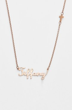 Personalized Script Name With Cross Necklace (Nordstrom Online Exclusive)