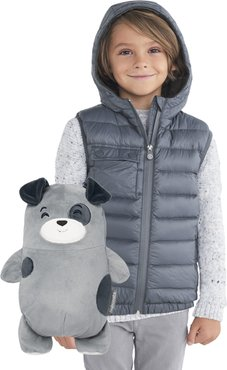 Toddler Cubcoats Pimm 2-In-1 Stuffed Animal & Hooded Down Vest