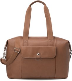 Stef Faux Leather Diaper Bag -