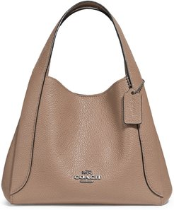 Hadley 21 Pebble Leather Hobo - Beige
