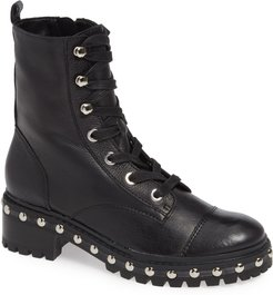 Andrea Studded Combat Boot