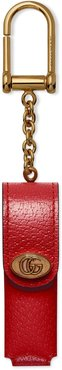 Porte Rouges Leather Lipstick Case Key Chain - Red