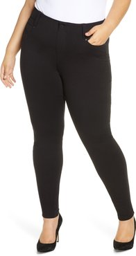 Plus Size Women's Liverpool Gia Glider Ponte Knit Pull-On Skinny Pants