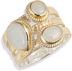 Moonstone Triple Stone Stack Ring (Nordstrom Exclusive)