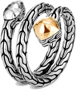 Classic Chain Hammered Wrap Ring