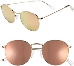 Charlie 50mm Mirrored Round Sunglasses - Japanese Gold/ Copper Mirror