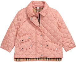 Girl's Burberry Brennan Water Resistant Diamond Quilted Jacket