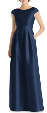 Cap Sleeve A-Line Gown