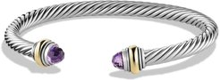 Cable Classics Bracelet With Semiprecious Stones & 14K Gold Accent, 5mm