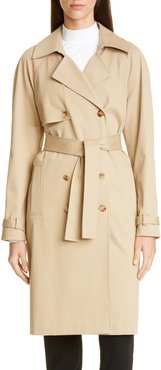 Luxe Stretch Twill Trench Coat