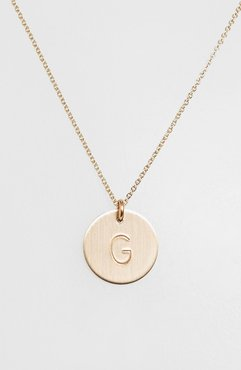 14K-Gold Fill Initial Disc Necklace