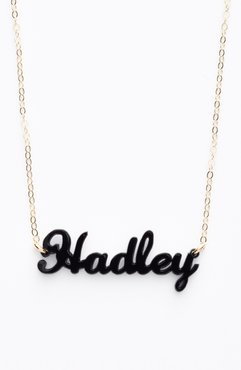 An Test 2 'Script Font' Personalized Nameplate Pendant Necklace