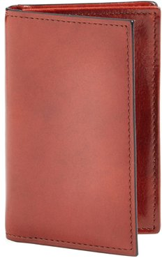 Old Leather Gusset Wallet - Brown