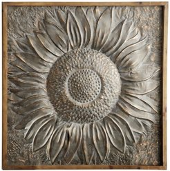 "Willow Row Large Framed Metal Sunflower Wall Decor - 39"" x 39"" at Nordstrom Rack"