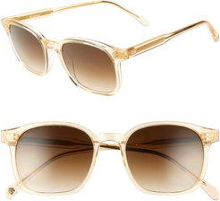 Dean 51mm Square Sunglasses - Champagne Crystal/ Brown