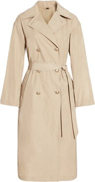 Double Breasted Technical Trench Coat